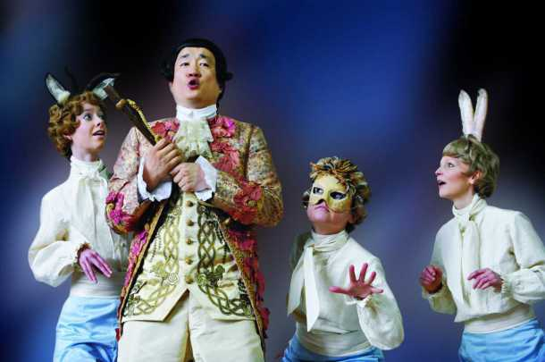 Third Boy in Diva Opera s 2012 production of The Magic Flute with as Tamino Laura Kelly as Second Boy and Rosanne Havel as First Boy
