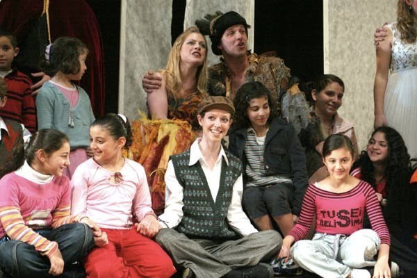 Third boy in the Choir of London 2007 production of The Magic Flute with Anne-Marie Cullum as Papagena and George Humphreys as Papageno (photographer Sophie Pickford)