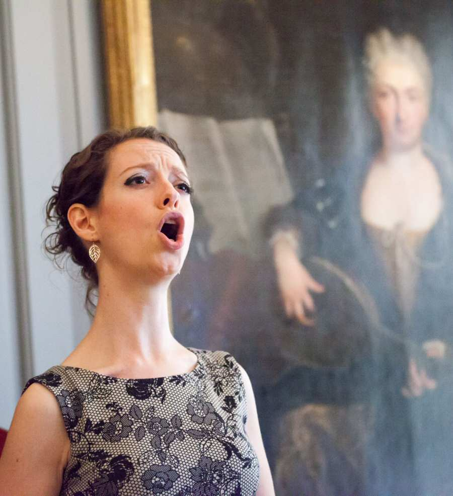 In recital at the Handel House, 2014