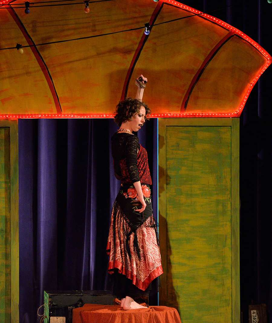 Carmen in the 2014 Barefoot Opera production  (photographer Chris Parker)